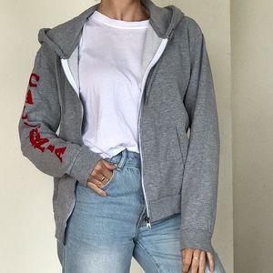 Volcom Grey Zip Hoodie